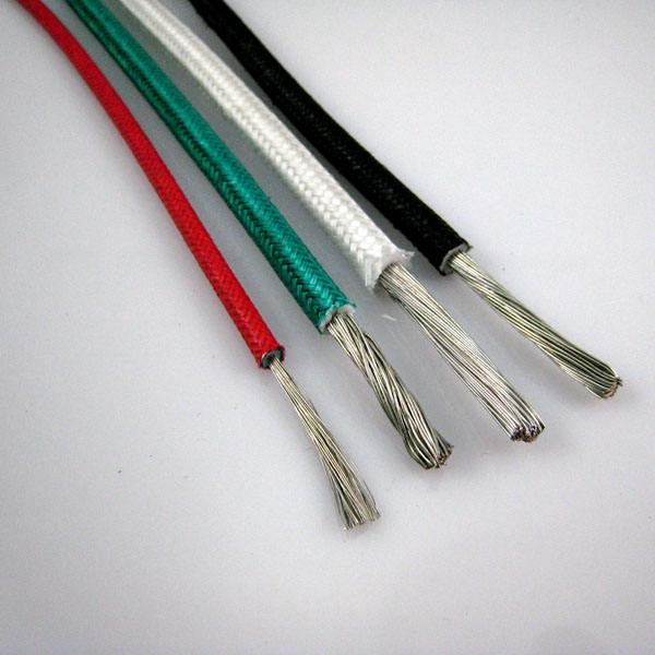Silicone rubber insulated glass fiber braided high temperature cable GBB