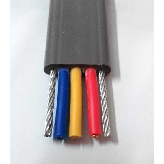Rubber flat reel cable
