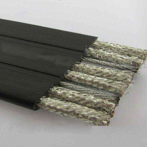 Copper wire shielded flexible flat cable TVVBP