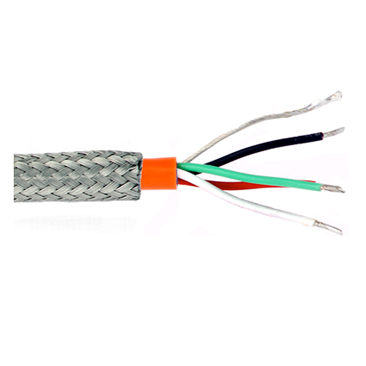 Heat-resistant halogen-free steel braiding silicone rubber multicore cable SiHF/GL-P